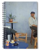 Cafe In Greece Spiral Notebook