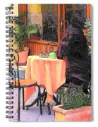 Cafe In Montepulciano Tuscany Spiral Notebook