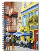 Cafe In The Old Quebec Spiral Notebook
