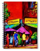 Cafe La Moulerie On Bernard Spiral Notebook