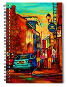 Cafe Le Vieux Port Spiral Notebook