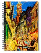 Cafe Of Amsterdam At Night  Spiral Notebook