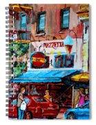 Cafe Piazzetta  St Denis Spiral Notebook