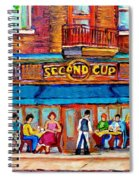 Cafe Second Cup Terrace Spiral Notebook