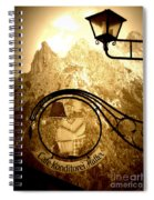 Cafe Sign In Bavarian Alps Spiral Notebook