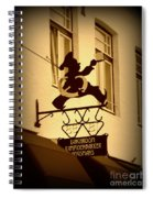 Cafe Sign In Holland Spiral Notebook