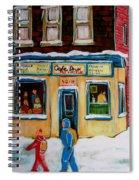 Cafe St. Viateur Montreal Spiral Notebook
