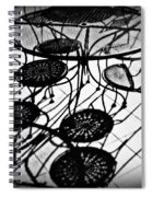 Cafe Table Shadows Spiral Notebook