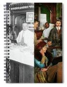 Cafe - Temptations 1915 - Side By Side Spiral Notebook