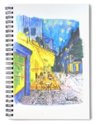 Cafe Terrace At Night - Van Gogh Spiral Notebook