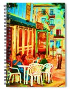 Cafe Vienne Spiral Notebook