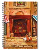 Cafe Vieux Montreal Spiral Notebook