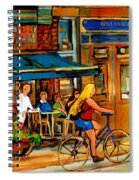 Cafes With Blue Awnings Spiral Notebook