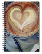 Caffe Vero's Heart Spiral Notebook
