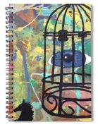 Caged Vision  Spiral Notebook