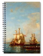 Caiques And Sailboats At The Bosphorus Spiral Notebook