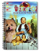 Cairn Terrier Art Canvas Print - The Wizard Of Oz Movie Poster Spiral Notebook