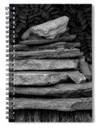 Cairns Rock Trail Marker Bluff Utah 01 Bw Spiral Notebook