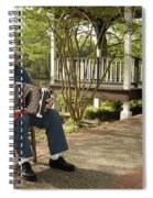 Cajun Man And Accordion Spiral Notebook