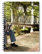 Cajun Man With Accordion Spiral Notebook