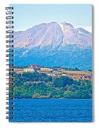 Calbuco Volcano Over Llanquihue Lake From Puerto Varas-chile Spiral Notebook