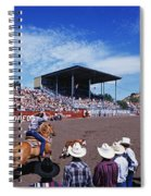 Calf Roping Event At Ellensburg Rodeo Spiral Notebook