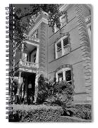 Calhoun Mansion Black And White Spiral Notebook
