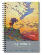 California - America's Vacation Land And New York Central Lines - Retro Travel Poster - Vintage Spiral Notebook