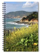 California Coast With Wildflowers And Fence Spiral Notebook