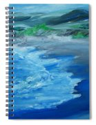 California Coastline Impressionism Spiral Notebook