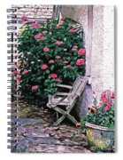 California Hydrangea Cottage Spiral Notebook