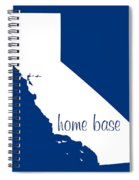 California Is Home Base White Spiral Notebook