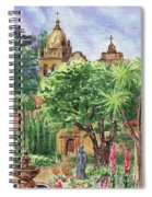California Mission Carmel Basilica Spiral Notebook