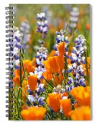 California Poppies And Lupine Wildflowers Spiral Notebook