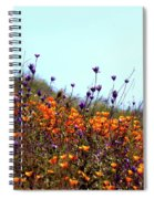 California Poppies And Wildflowers Spiral Notebook