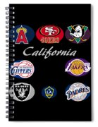 California Professional Sport Teams Collage  Spiral Notebook