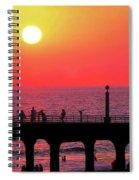 California Sunset Spiral Notebook