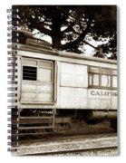 California Western  M 100 Gas Railcar  Skunk Train  Circa 1930 Spiral Notebook