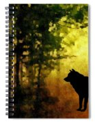Call Of The Wolf Spiral Notebook
