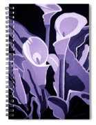 Calla Lillies Lavender Spiral Notebook