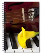 Calla Lily And Violin On Piano Spiral Notebook
