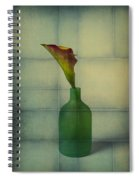 Calla Lily In Green Vase Spiral Notebook