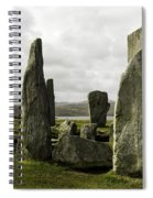 Callanish Stones Spiral Notebook