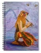 Calling The Wolf Spirit Spiral Notebook