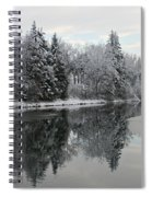 Calm And Frosty Spiral Notebook