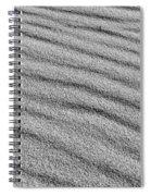 Calm Sands In Monochrome Spiral Notebook