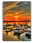 Calm Waters Bull River Marina Tybee Island Savannah Georgia Art Spiral Notebook