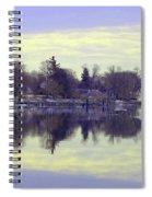 Calming Lavendar Scene Spiral Notebook