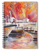 Calpe Harbour Spain Spiral Notebook