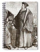 Calvin And Servetus Before The Council Of Geneva Spiral Notebook